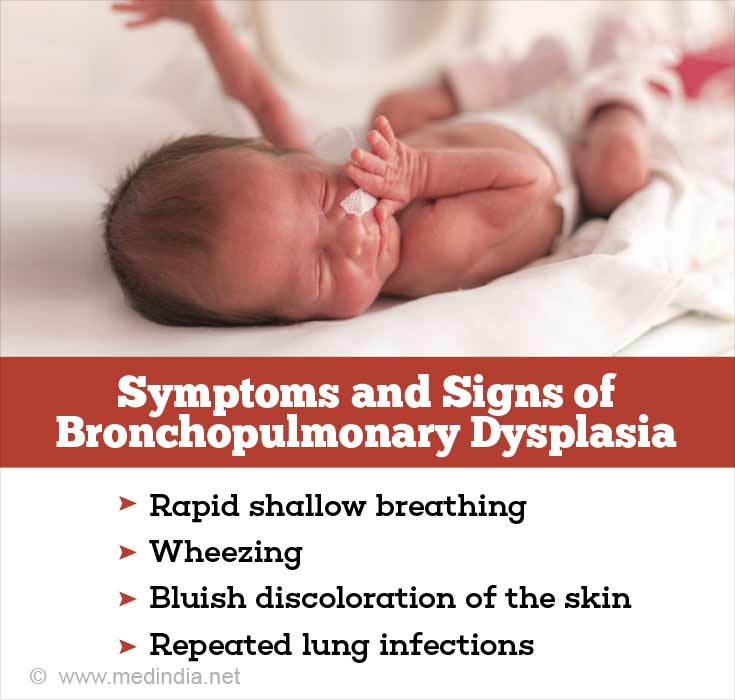 Symptoms and Signs of Bronchopulmonary Dysplasia