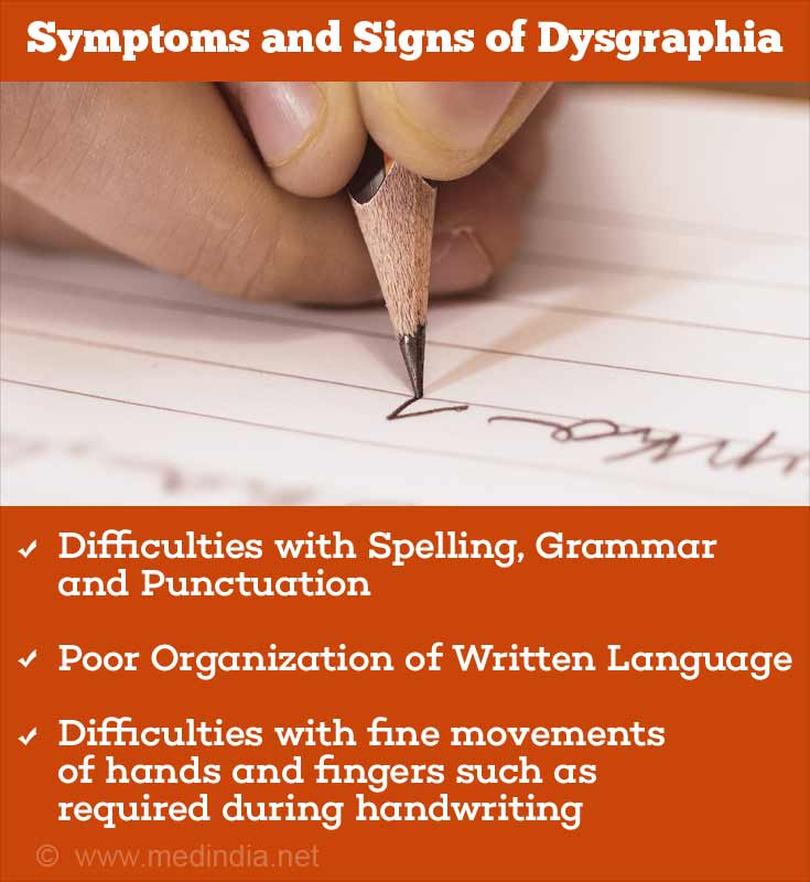 Symptoms and Signs of Dysgraphia