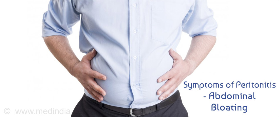 Symptom of Peritonitis - Abdominal Bloating