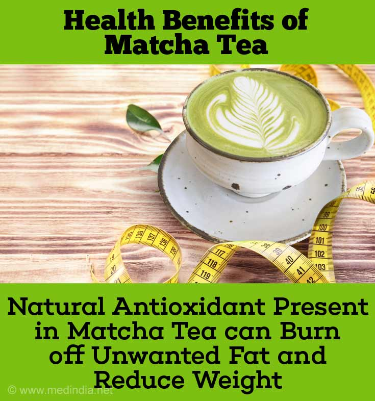 The Natural antioxidant - Epigallocatechin Gallate Present in Matcha Tea Can Increase the Burning of Unwanted Fat and Thereby Reduce Weight