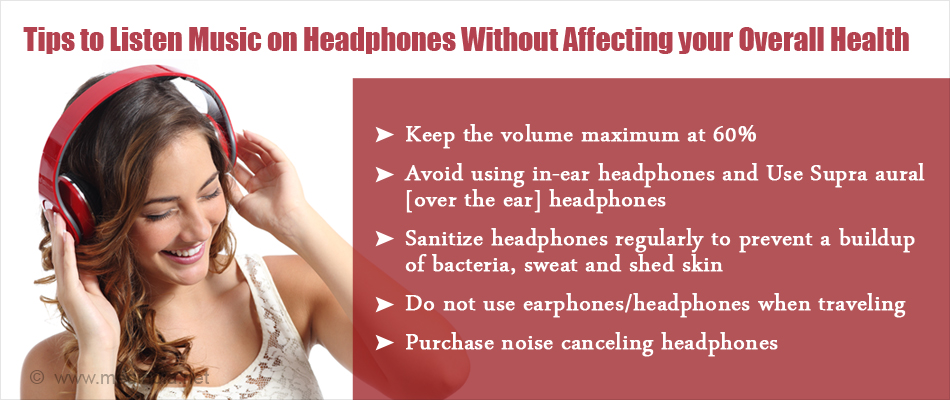Tips to Listen to Music on Headphones without affecting your Overall Health