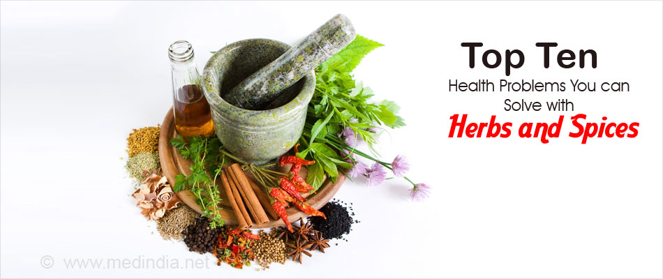 Top Ten Health Problems You can Solve with Herbs and Spices