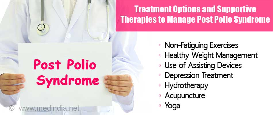 Followings are the Treatment Options and Supportive Therapies to Manage Post Polio Syndrome