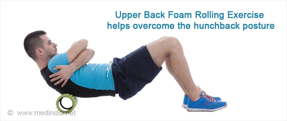 Upper Back Foam Rolling Exercise helps overcome the Hunchback Posture