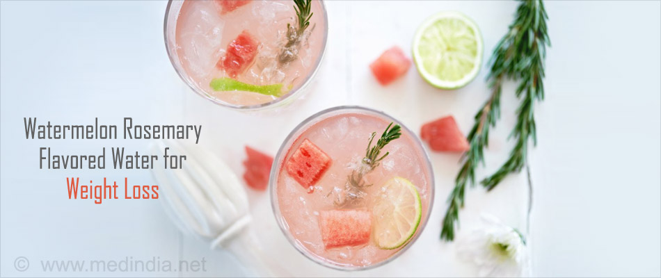 Watermelon Rosemary Flavored Water for Weight Loss