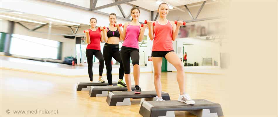 Top Workouts for Teens: Dumbbell step-ups
