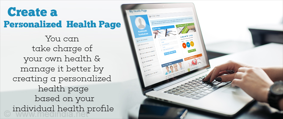 Personalized Health Page