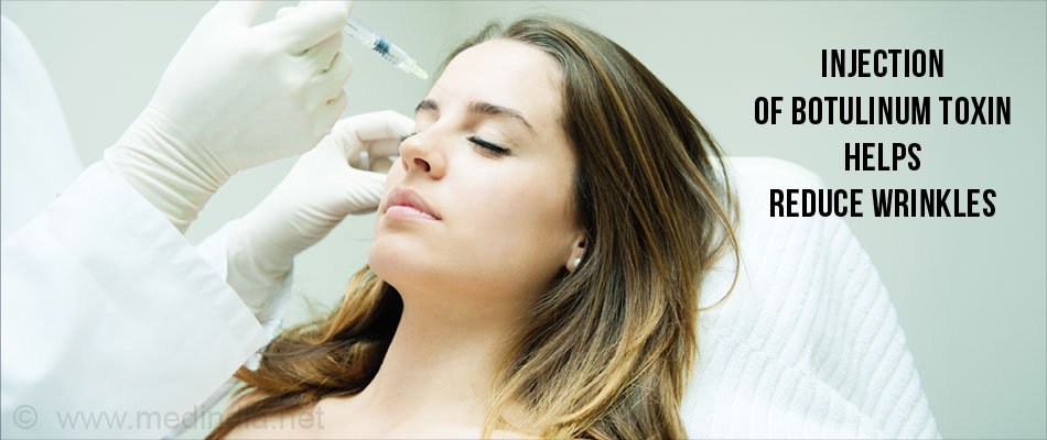 Injection of Botulinum Toxin Helps Reduce Wrinkles