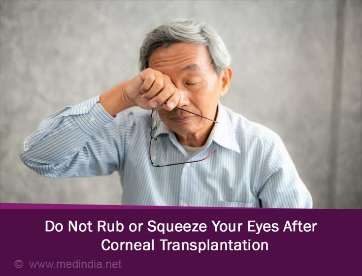 Do Not Rub or Squeeze Your Eyes after the Procedure