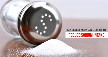 Sodium Leads to High Blood Pressure - New Guidelines by FDA