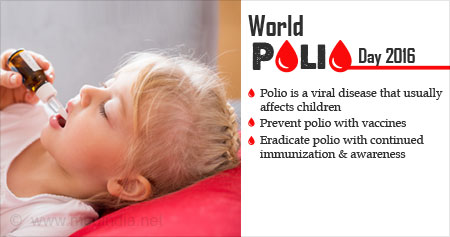 World Polio Day 2016: ''End Polio''