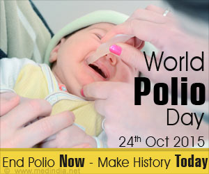 "World Polio Day 2015: ""End Polio Now - Make History Today"""