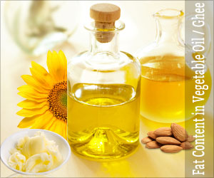 Fat Content in Vegetable Oil / Ghee / Cooking Oil