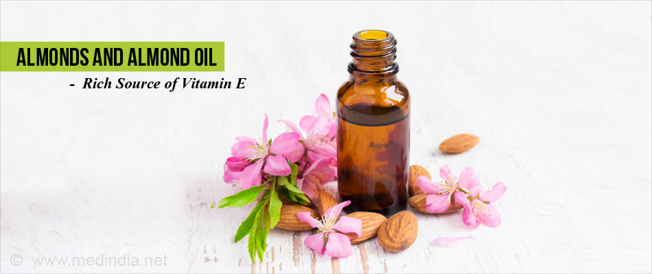 Vitamin e in almond oil
