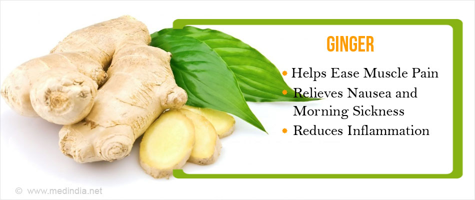 Ginger Helps Ease Inflammation