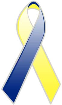 Blue- yellow Ribbon - Down Syndrome | Medindia